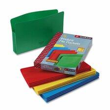 Accordion Expansion File Pockets, 4/Box
