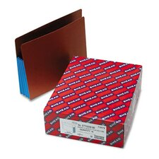 3 1/2 in Expansion File Pockets w/Tyvek, Straight, Letter, Blue/Redrope, 10/Box