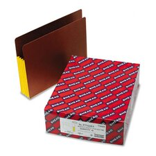 3 1/2 in Expansion File Pockets w/Tyvek, Straight, Letter, Yellow/Redrope, 10/Bx