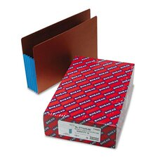5 1/4 in Expansion File Pockets w/Tyvek, Straight, Legal, Blue/Redrope, 10/Box
