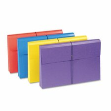 """2"""" Accordion Expansion Antimicrobial File Wallet, 4/Pack"""