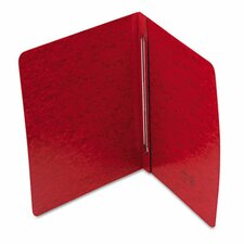 "Pressboard Side Opening Cover, Prong Clip, Letter, 3"" Capacity, Red (Set of 3)"
