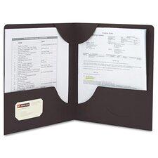 Lockit Two-Pocket Folder, Leatherette Stock, 11 X 8-1/2, 25/Box