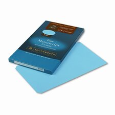 Credentials Collection Manuscript Cover, 30lb Stock, 9 x 15-1/2, Blue, 100/Box
