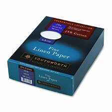 25% Cotton Linen Business Paper, 24 Lbs., 500/Box, Fsc