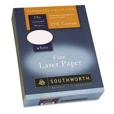 25% Cotton Laser Paper, 500/Box
