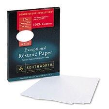 Connoisseur Exceptional Résumé Paper, White, 32lb, Letter, 100 per Box