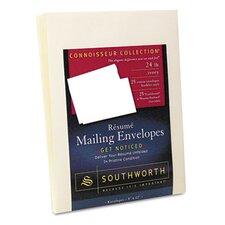 Resume Presentation Envelopes, 9 x 12, 25/Pack, White