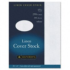 25% Cotton Linen Business Coverstock, 100/Box