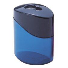 Pencil Sharpener, 2 Hole, Oval, Blue/Aqua/Pink