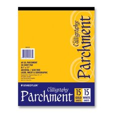Calligraphy Parchment Paper, 60lb, Letter, 15 Gold/15 White