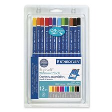 Watercolor Pencils,w/ Easel Case, Soft Coating, Assorted