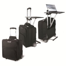 2 Wheeled Briefcase with Extended Portable Desk