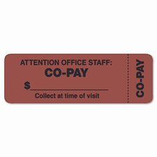 """Attention Office Staff"" Medical Labels, 3 x 1, Orange, 500/Roll"