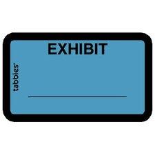 "Legal Exhibit Labels, ""Exhibit"", 1-5/8""x1"", 252 per Pack, Yellow"