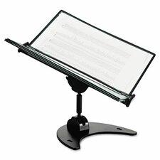 Technic 3D 360-Degree Desktop Stand, 10 Pockets, 20-Sheet Capacity, Black