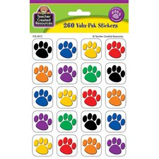 Paw Print Value Sticker (Set of 3)