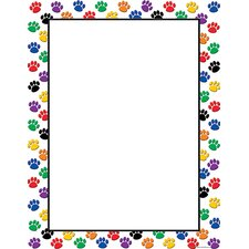 Colorful Paw Prints Blank Chart (Set of 3)
