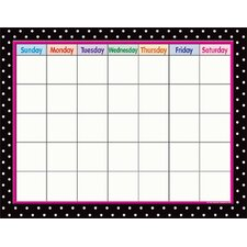 Black Polka Dots Calendar (Set of 3)