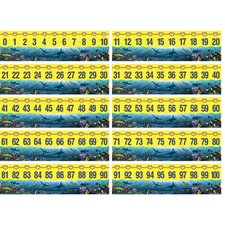 Wy 0-100 Number Line Bulletin Board Cut Out
