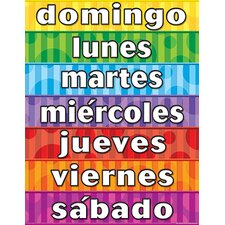 Days of The Week Spanish Chart (Set of 3)