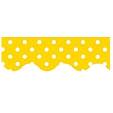 Yellow Mini Polka Dots Classroom Border (Set of 3)