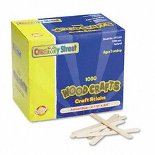 Natural Wood Craft Sticks, 1000/Box