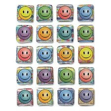 Peel and Stick Gemstone Smiley Face Sticker (Set of 3)