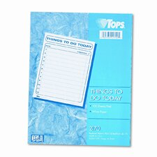 Things To Do Today Daily Agenda Pad, 100 Forms