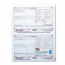 W-2 Tax Form Four-Part Carbonless, 50 Forms