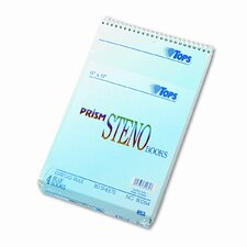 Spiral Steno Notebook, Gregg Rule, 6 x 9, Four 80-Sheet Pads per Pack