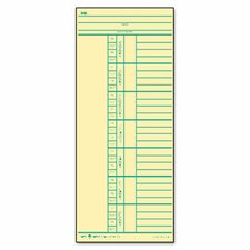 Time Card for Cincinnati, Named Days, Two-Sided, 500/Box