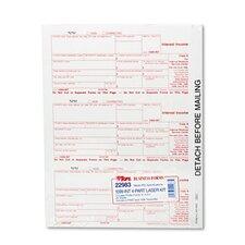 Tax/1099 Interest, 3-2/3 x 8, Carbonless, 75 Loose Form Sets/Pack