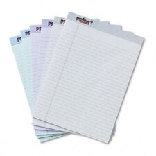 Prism Plus Colored Pads, Legal Rule, Letter, Pastels, 6 50-Sheet Pads/Pack