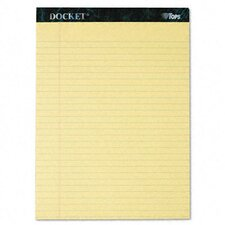 Docket Ruled Perforated Pads, Legal Rule, Letter, 50 Sheets, 12-Pack
