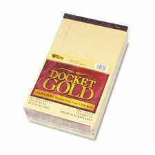 Docket Gold Ruled Perforated Pad, Legal Rule, 50-Sheet Pads