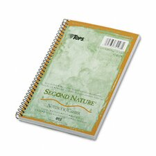 Second Nature Subject Wirebound Notebook, Narrow Rule, 80 Sheets (Set of 2)