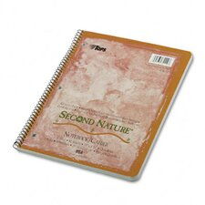 Second Nature Subject Wirebound Notebook, Quadrille Rule, Letter, 80-Sheet (Set of 2)