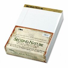 Second Nature Recycled Pad, Legal Margin/Rule, Letter, 50-Sheet