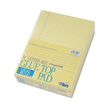Glue Top Ruled Pads, Legal Rule, 8-1/2 x 11, 50 Sheets, 12-Pack