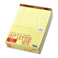 The Legal Pad Legal Rule Perforated Pads, Letter, 50 Sheet Pads, 12/Pack