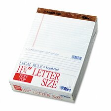 Perforated Pads, Legal Rule, Letter, 50 Sheets, 12-Pack