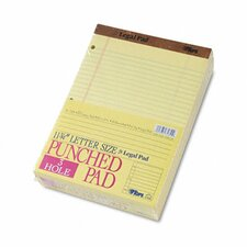 The Legal Pad Legal Ruled Perf. Pads, Punched, Letter, 50 Sheet Pads, 12/Pack