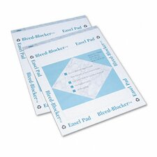 Bleed-Blocker Easel Pad, Unruled, 2 40-Sheet Pads/Pack
