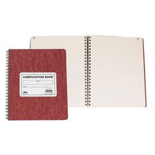 "Research/Computation Notebook, 11-3/4""x9-1/2"", 76 Sheets., Brown"