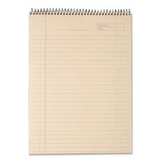 Docket Gold Wirebound Ruled Planner Pad, Legal Rule, Letter, Ivory, 70 Sheets