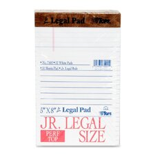 The Legal Pad Jr. Ruled Perforated Pads, 50 Sheet Pads, 12/Pack