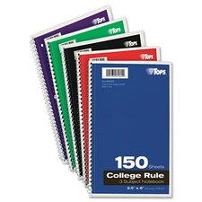 Wirebound 3-Subject Notebook, College Rule, 150 Sheets/Pad (Set of 2)