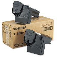 T1600 Toner Cartridge, 2 Cartridges, Black