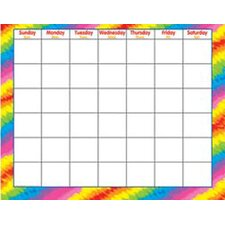 Tie-Dye Wipe-off Monthly Calendar (Set of 2)